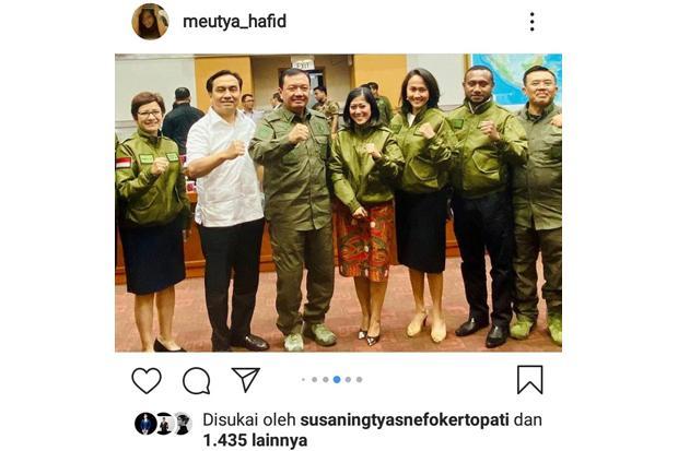Komisi I DPR Rapat Dengan BIN, Meutya Hafid Pamerkan Seragam Baru Elegan