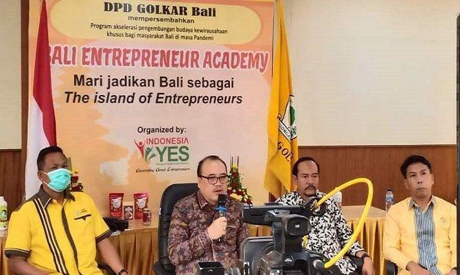 Berdayakan Generasi Muda Jadi Wirausaha, Golkar Luncurkan Bali Entrepreneur Academy