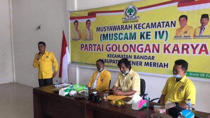 Golkar Bener Meriah Sukses Gelar Muscam IV, Ini Nama-Nama 10 Ketua PK Terpilih