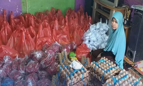 Darul Siska Salurkan Paket Sembako Bagi Puluhan Penyandang Disabilitas di Padang Panjang