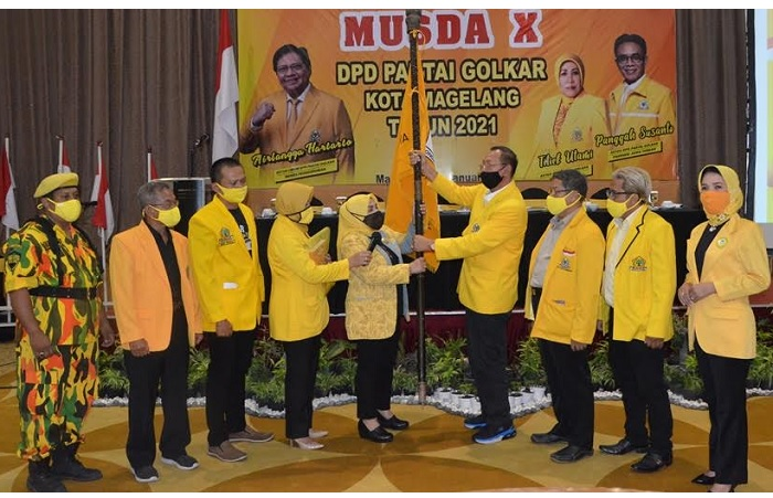 Titiek Utami Terpilih Aklamasi Ketiga Kalinya Pimpin Golkar Kota Magelang