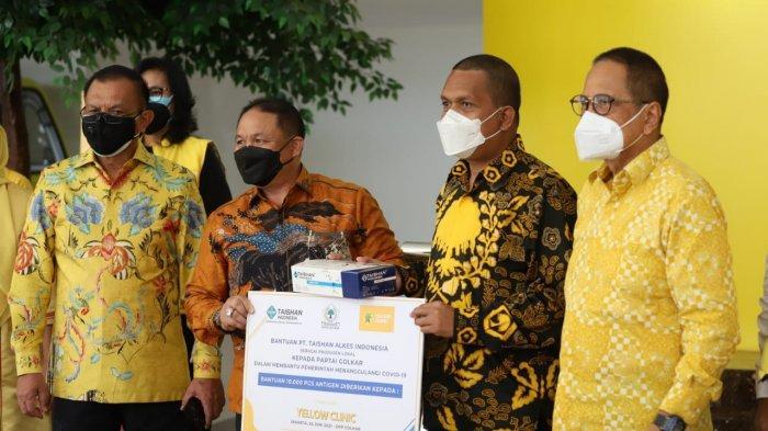 Serahkan 10 Ribu Alat Swab Antigen Untuk Yellow Clinic, Lodewijk Paulus Puji Upaya PT Taishan Cegah COVID-19
