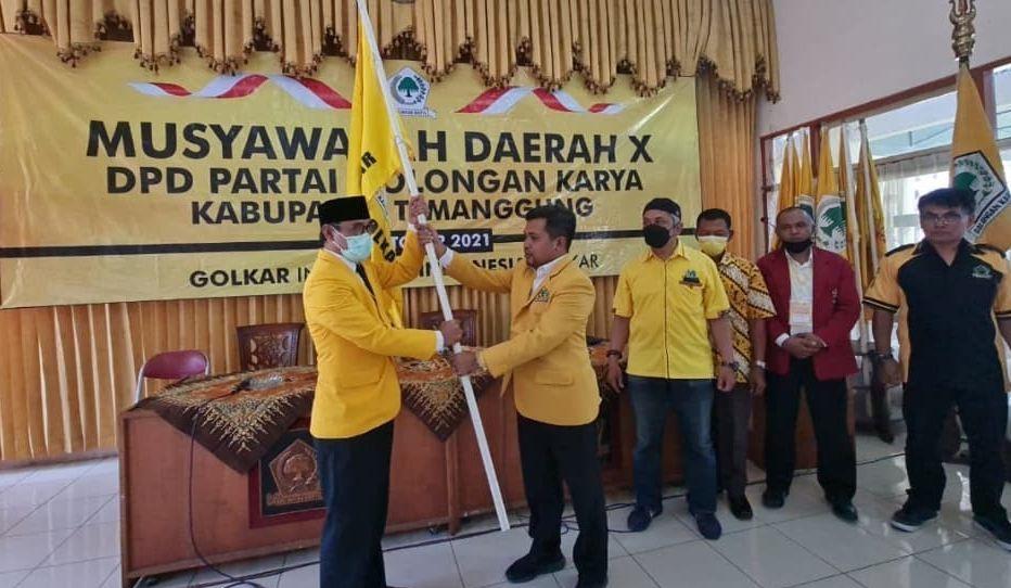 Bupati Muhammad Al Khadziq Terpilih Aklamasi Pimpin Golkar Temanggung
