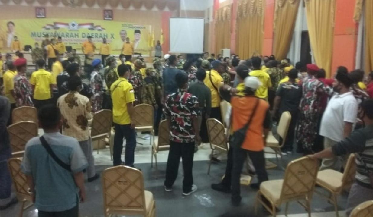 Baku Hantam Di Musda Golkar Inhu, Sekretaris Depicab SOKSI Berdarah Panitia Membantah