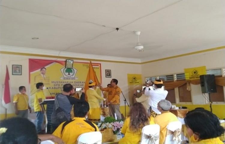 Gusti Ngurah Setiawan Terpilih Aklamasi Pimpin Golkar Karangasem