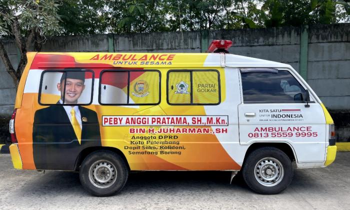 Peby Anggi Pratama Siagakan Ambulan Gratis Untuk Pelayanan Kesehatan Warga Kota Palembang