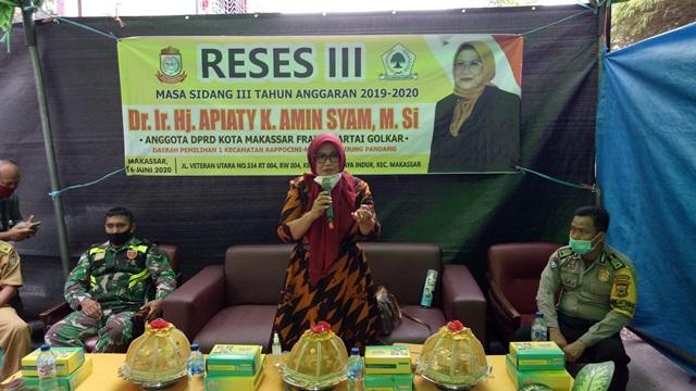 Apiaty Amin Syam Minta Pemkot Makassar Tuntaskan Infrastruktur Lorong