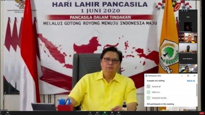 Gelar Rakornis Virtual, Airlangga Klaim Golkar Partai Paling Siap Masuk Era Digital