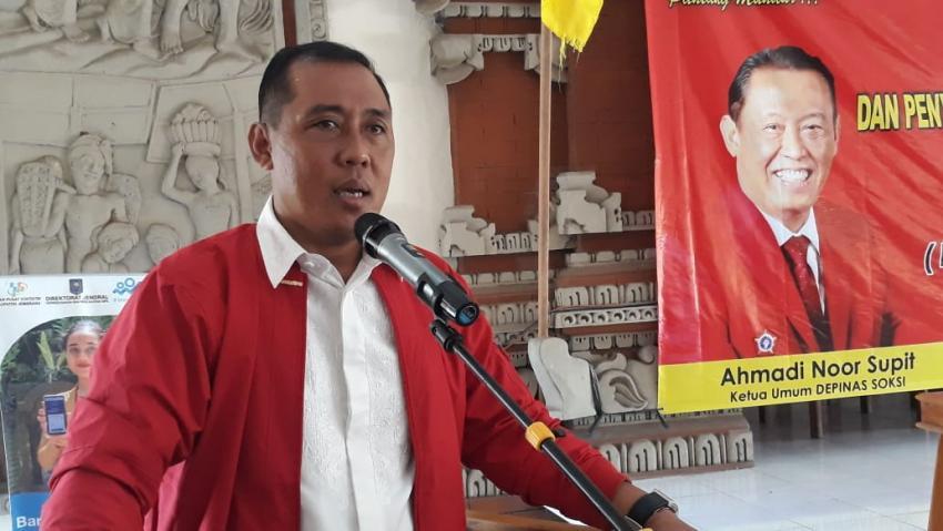 Bagus Adhi Tegaskan SOKSI Bali Dukung Ketum Golkar Airlangga Hartarto Maju Pilpres 2024