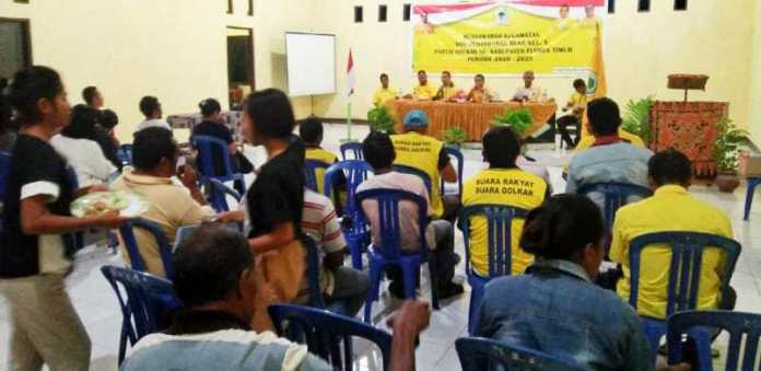 Kembalikan Kejayaan Golkar, Yoseph Sani Betan Konsolidasi Total Kader di Flores Timur