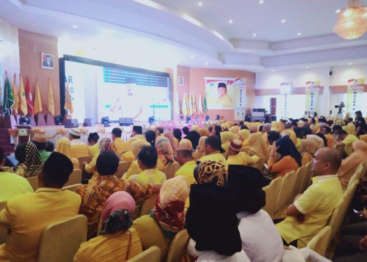 Musda Golkar Gorontalo, Rusli Habibie Lantang Teriakkan Airlangga Calon Presiden