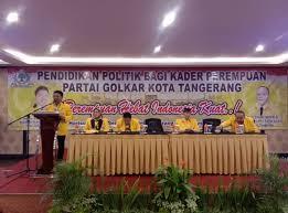 Golkar Kota Tangerang Berikan Pendidikan Politik Untuk Kader Perempuan Milenial