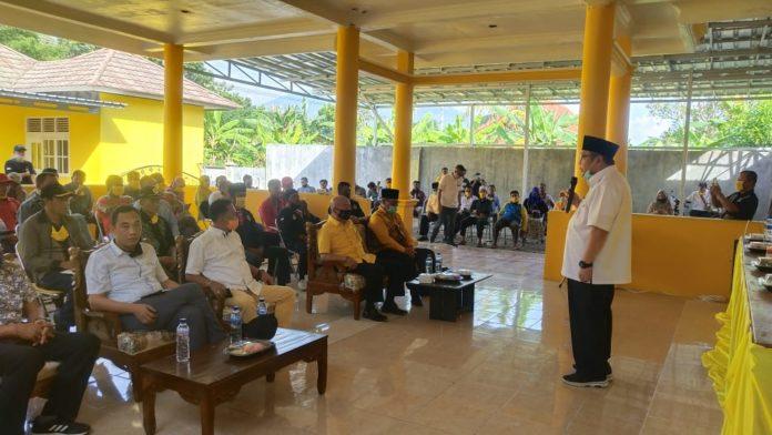 Tony Eka Candra Silaturahmi Dengan LSM, Ormas dan Relawan di Kantor Golkar Lamsel