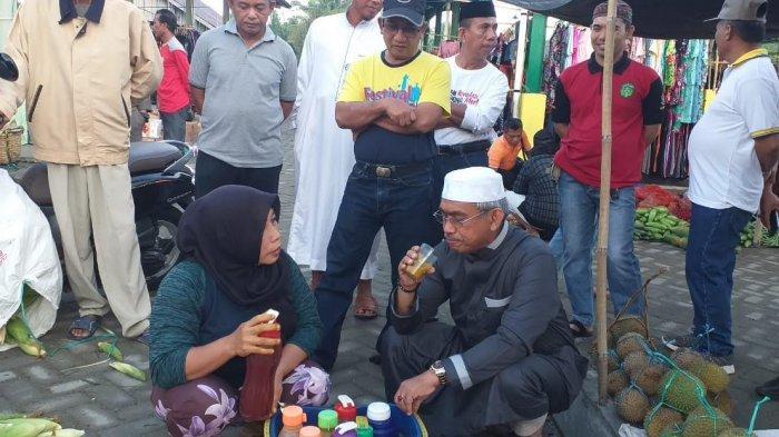 Blusukan Ke Pasar Tomoni Timur, Warga Berebut Minta Foto Dengan Thorig Husler