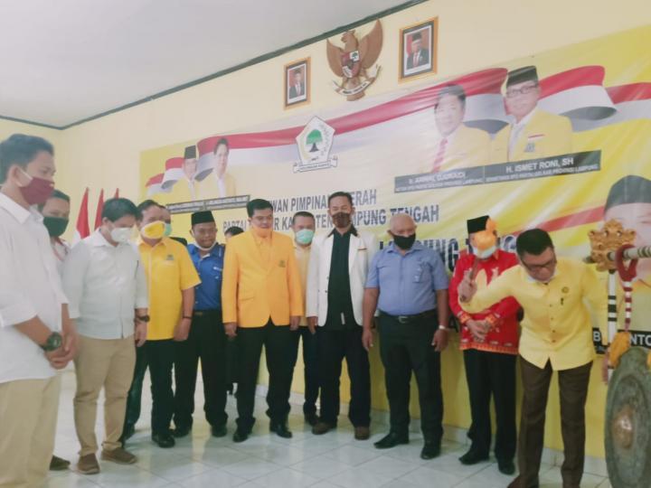 Musa Ahmad Kembali Terpilih Aklamasi Pimpin Golkar Lampung Tengah 2020-2025
