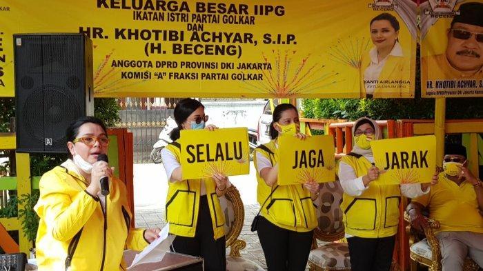 Yanti Airlangga dan IIPG Edukasi Pola Hidup Sehat dan Tatanan Hidup Baru di Cengkareng