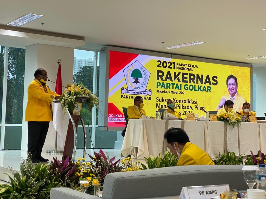 Rakernas Golkar Usulkan Ketua DPD I Provinsi Maju Calon Gubernur, Lamberthus Jitmau: Saya Siap Emban Tugas