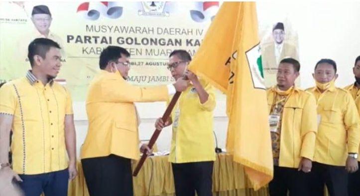 Ivan Wirata Terpilih Aklamasi Pimpin Golkar Muarojambi 2020-2025