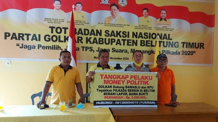 Harap Pilkada Bersih, Golkar Belitung Timur Bentuk Satgas Pencegahan Money Politics