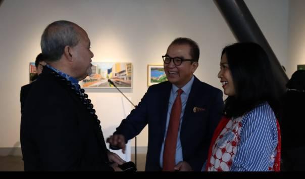 Pameran Lukisan 'Kutinggalkan Hatiku di Selandia Baru', Diplomasi Seni Ala Dubes Tantowi Yahya
