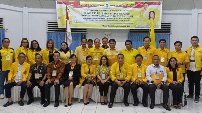Ini Daftar 9 Nama Balon Walikota dan Wakil Walikota Tomohon Dari Golkar