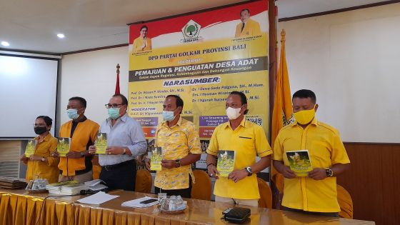 Golkar Bali Luncurkan Buku Pemajuan dan Penguatan Desa Adat