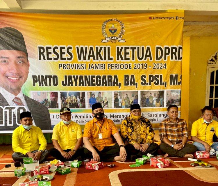Didampingi Ketua DPRD Merangin, Pinto Jaya Negara Serap Aspirasi Konstituen di Sungaiulak Nalo Tantan