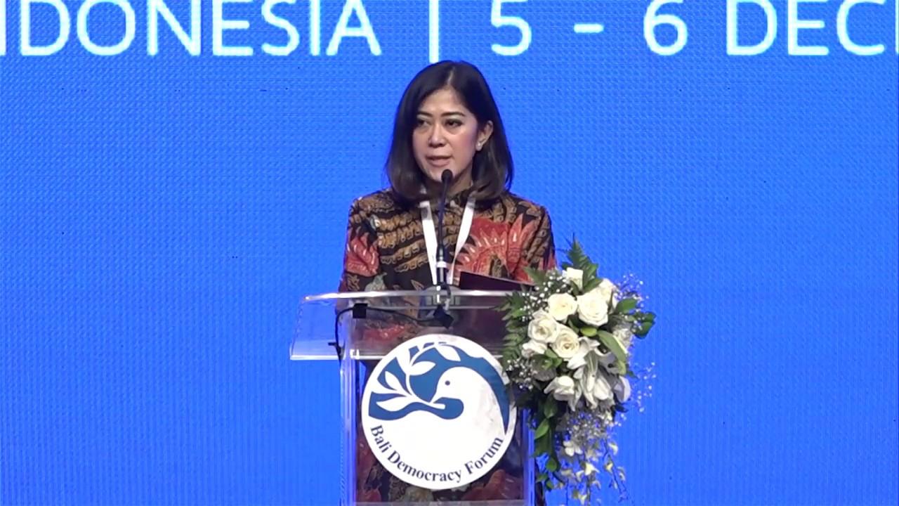 Tutup Bali Democracy Forum, Meutya Hafid Paparkan Peran Penting Perempuan Dalam Politik