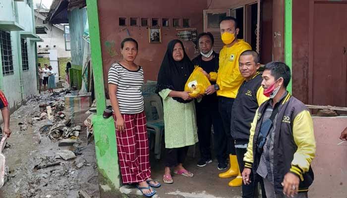 Akbar Himawan Buchari Salurkan Sembako Untuk Korban Banjir 6 Kecamatan Kota Medan