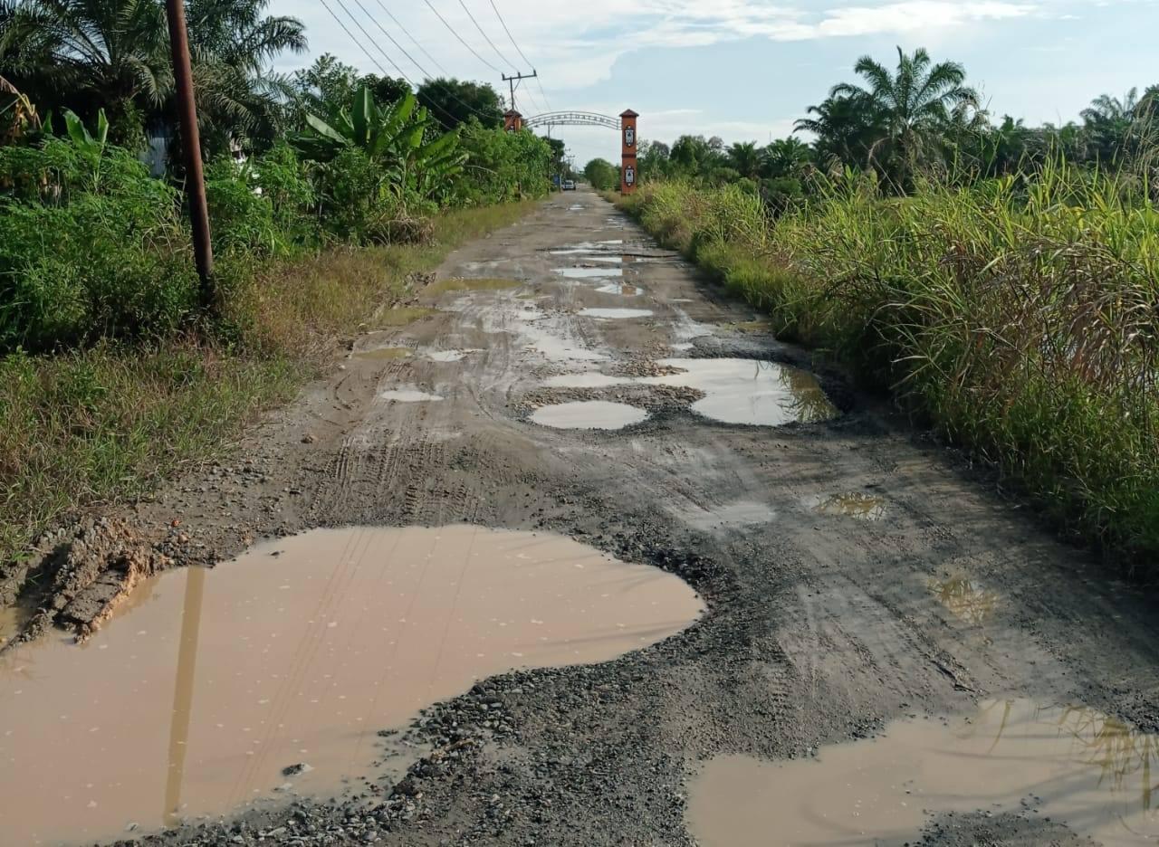 Rusak Berat, Anggota DPRD Bogor Aan Triana Al Muharom Minta Jalan Kalongliud Segera Diperbaiki