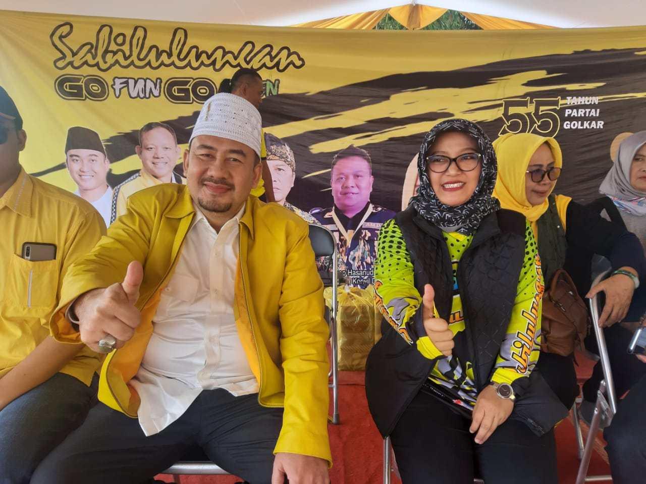 Deding Ishak dan Nia Dadang Naser Kandidat Kuat Balon Bupati Bandung Dari Golkar