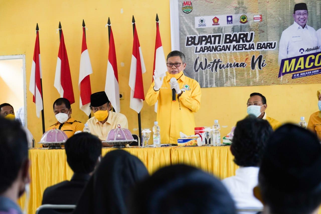 Taufan Pawe Tegaskan Malkan Amin-Salahuddin Rum Paling Layak Pimpin Barru