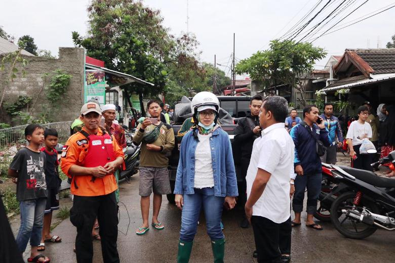 Airin Rachmi Diany Janji Perbaiki Pola Pencegahan Banjir di Tangsel