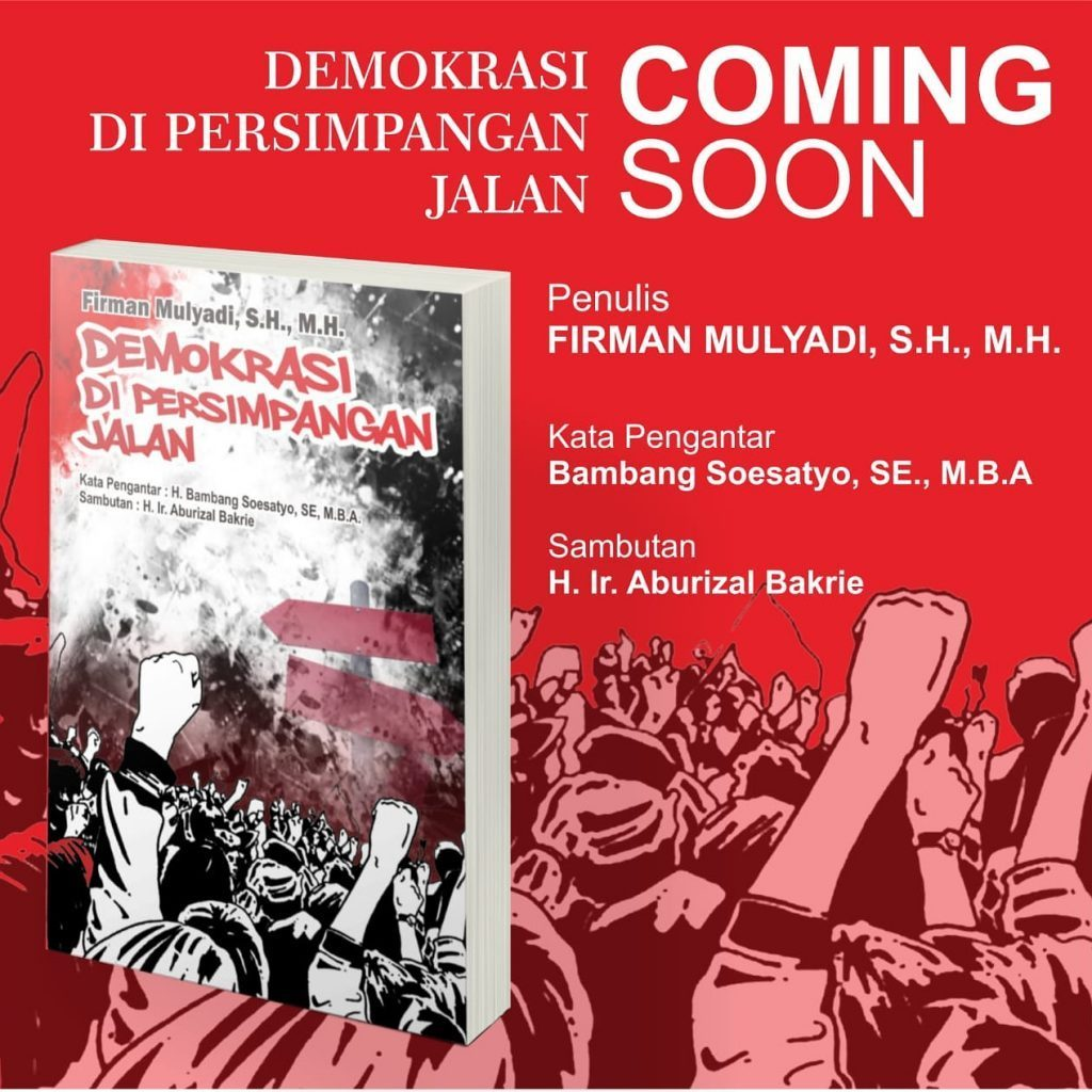 Firman Mulyadi Segera Luncurkan Buku 'Demokrasi di Persimpangan Jalan'