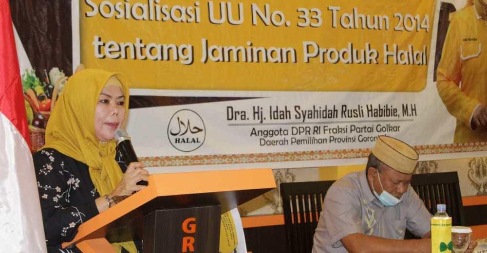 Idah Syahidah Tekankan Pentingnya Sertifikat Halal Bagi Para Pelaku UMKM di Gorontalo