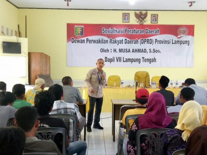 Musa Ahmad Sosialisasi Perda Kemandirian Pangan di Kampung Pajar Mataram
