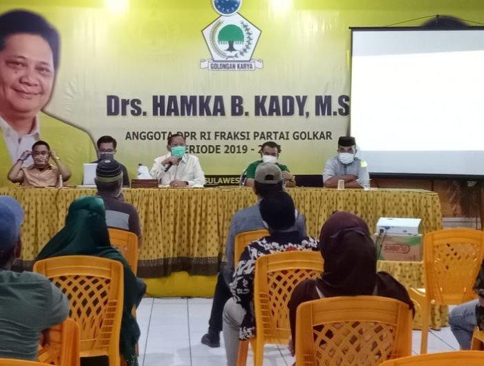 Hamka Baco Kady Ajak Kepala Desa Sosialisasi New Normal dan Kawal BLT Dana Desa