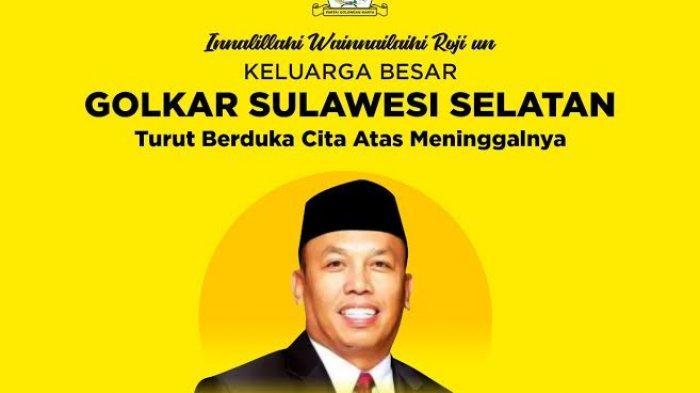 Ketua DPRD Luwu Timur Amran Syam Meninggal, Ketua Golkar Sulsel Taufan Pawe Berduka