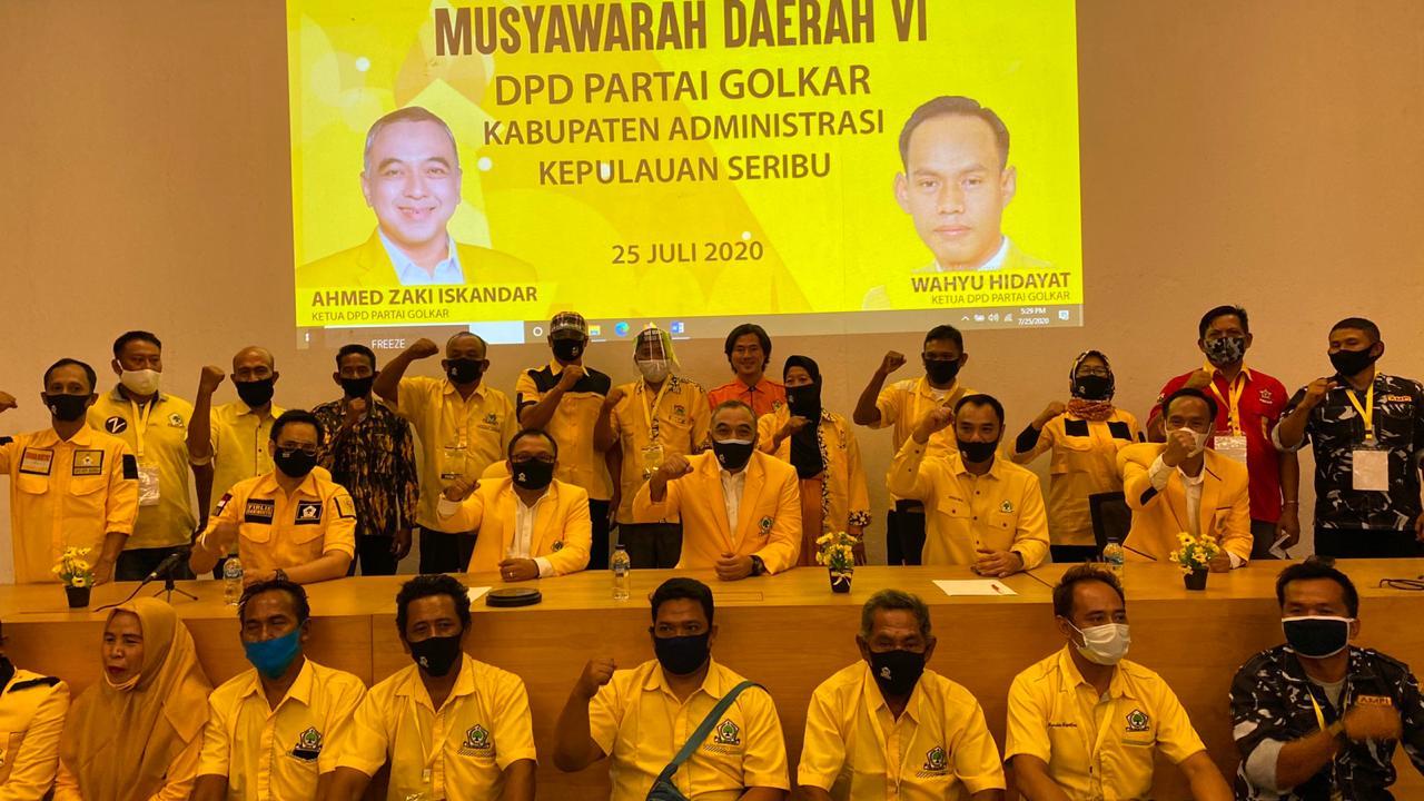 Terpilih Pimpin Golkar Kepulauan Seribu, Wahyu Hidayat Janji Genjot Partai Makin Dicintai