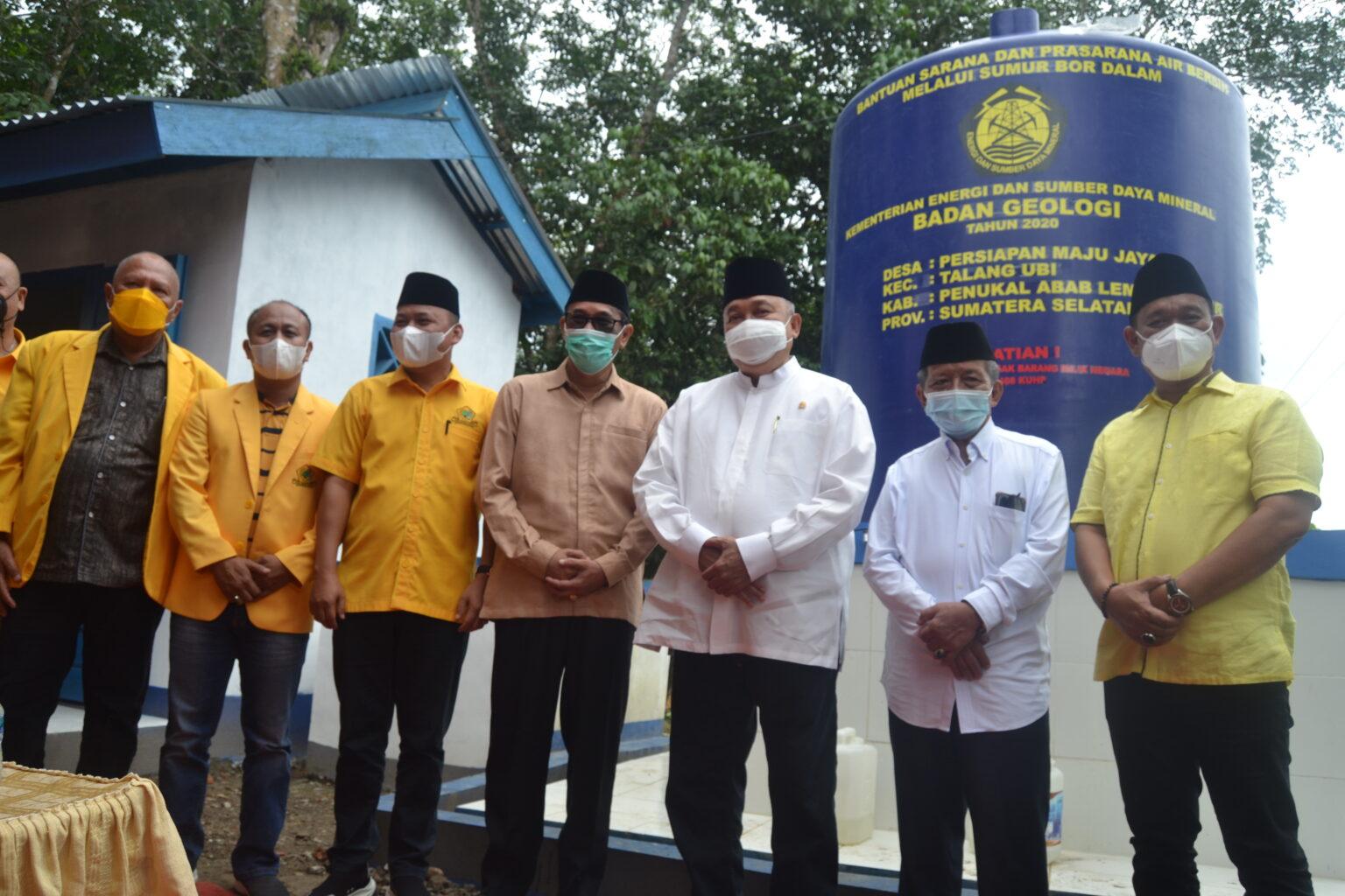 Alex Noerdin Resmikan Sumur Bor Untuk Warga Persiapan Maju Jaya, Talang Ubi, Pali