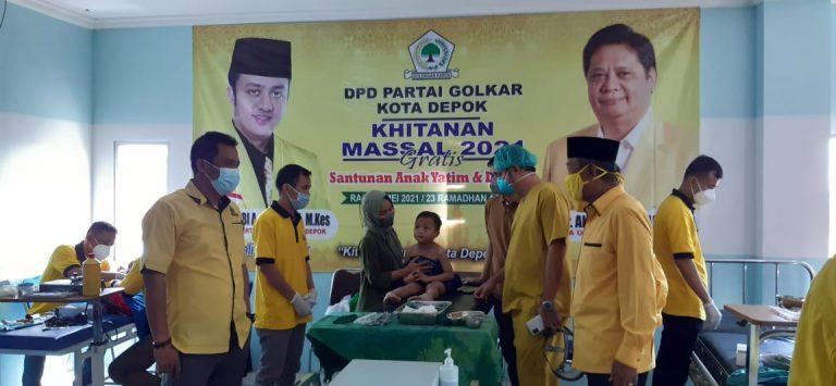 Gandeng RS Citra Arafiq, Golkar Depok Khitan Massal Gratis 100 Anak