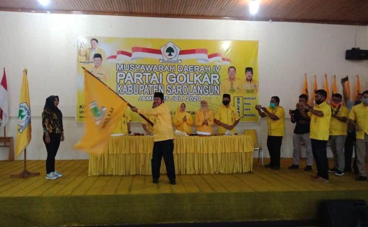Pimpin Golkar Sarolangun, Tantowi Jauhari Siap Kembalikan Kejayaan Partai