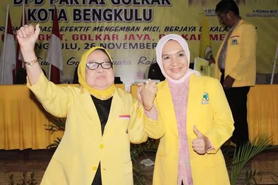 Patriana Sosialinda Kembali Terpilih Aklamasi Pimpin Golkar Kota Bengkulu