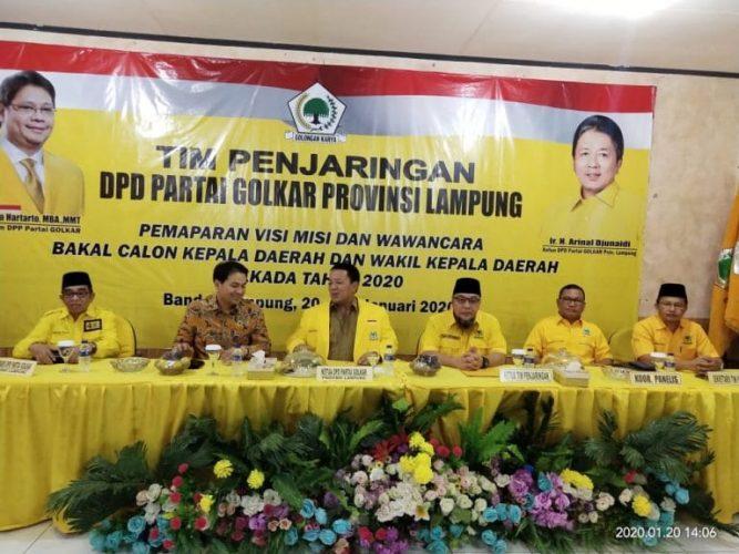 Pemaparan Visi Misi Balonkada Lampung, Dibuka Arinal Djunaidi Dihadiri DPP Golkar