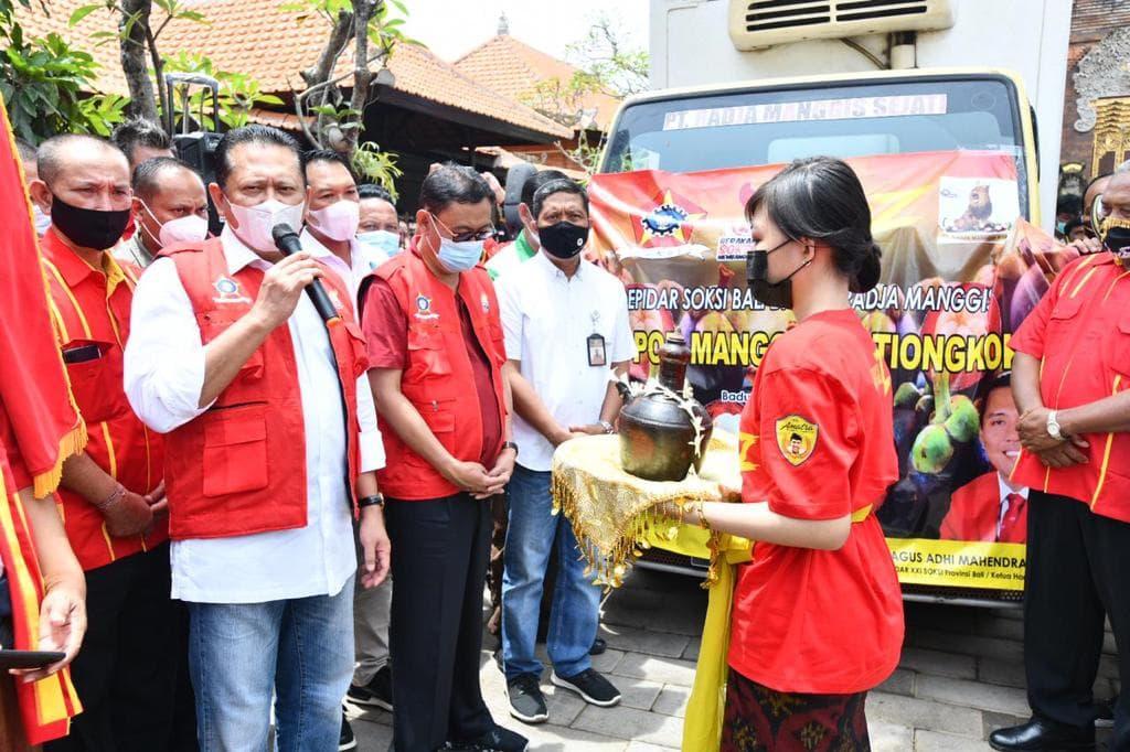 Bamsoet Lepas Ekspor Perdana Dua Ton Buah Manggis Produksi Petani Binaan SOKSI Bali