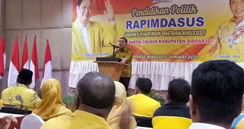 Warih Andono Pastikan Golkar Berkoalisi Dengan Gerindra di Pilkada Sidoarjo 2020