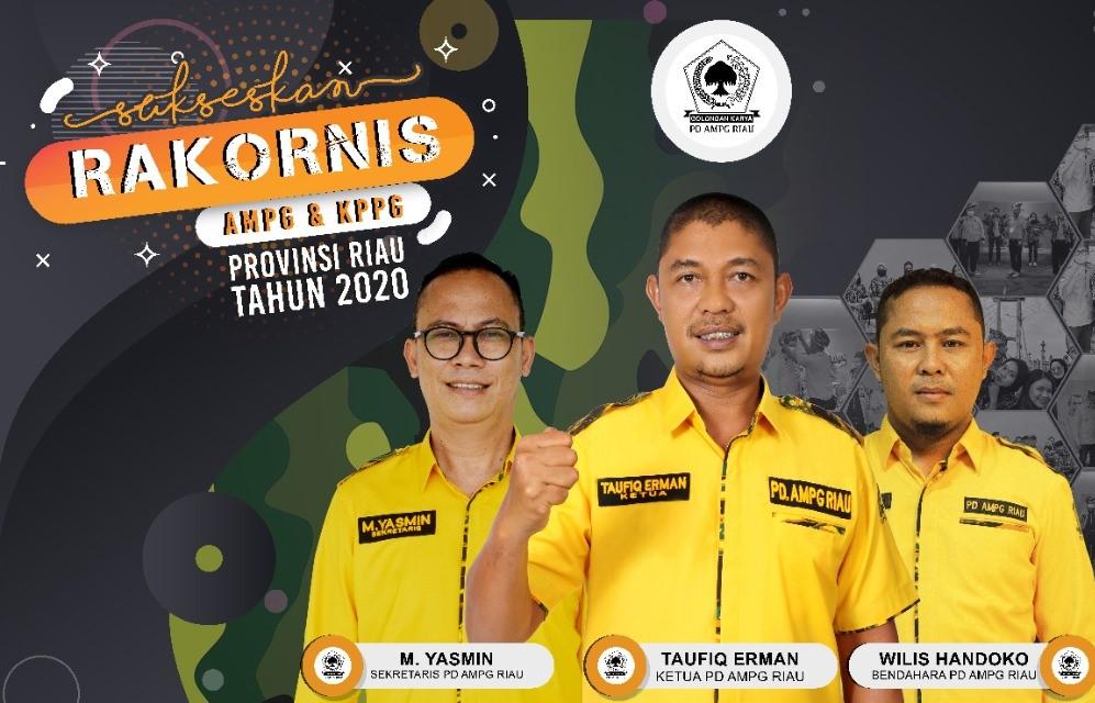 Komitmen Besarkan Partai, AMPG Riau Gandeng KPPG Gelar Rakornis Bersama