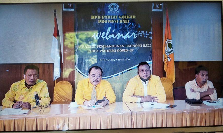 Seminar Virtual Golkar Bali, Puluhan Praktisi, Akademisi Politisi Beri Masukan Terkait New Normal