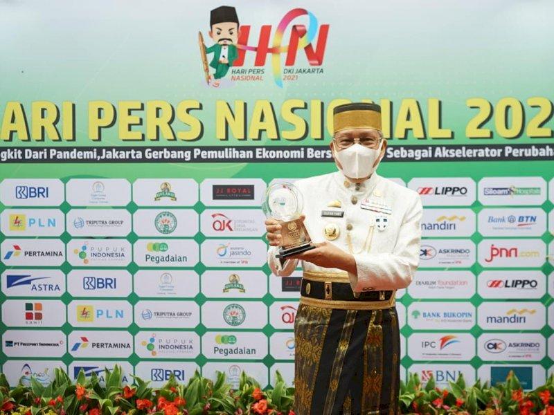 Walikota Parepare, Taufan Pawe Terima Penghargaan Anugerah Kebudayaan Dari PWI Pusat