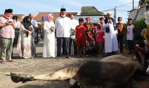 Rycko Menoza Kurban 7 Sapi dan 7 Kambing di Bandar Lampung